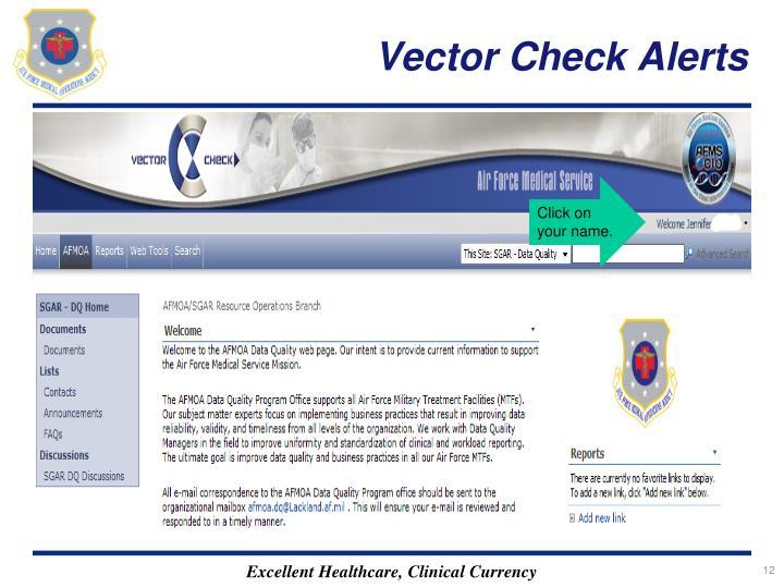 Vector Check Alerts