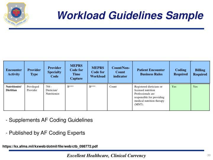 Workload Guidelines Sample