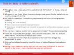 trait 4 how to make tradeoffs