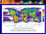 global distribution of lightning 1995 2003