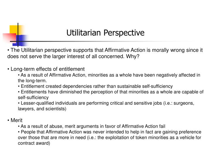 utilitarian view of affirmative action