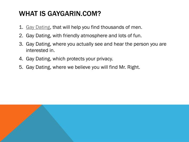 What is gaygarin com