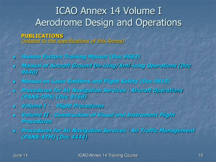 Ppt Icao Annex 14 To The Convention On International