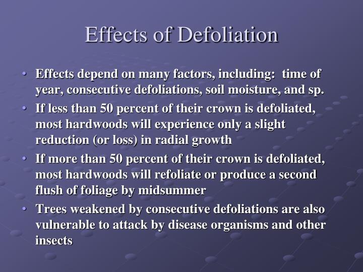 Effects of Defoliation