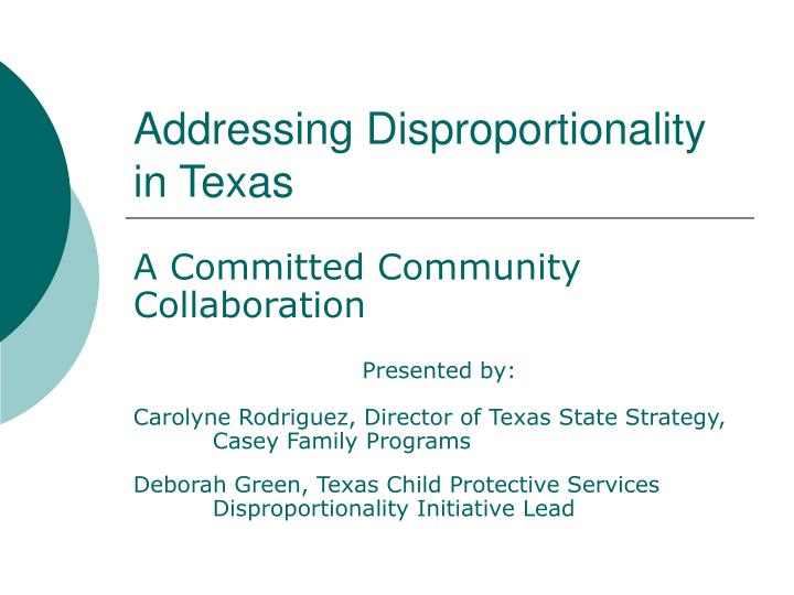 addressing disproportionality in texas n.