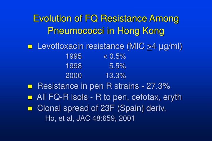 Evolution of FQ Resistance Among Pneumococci