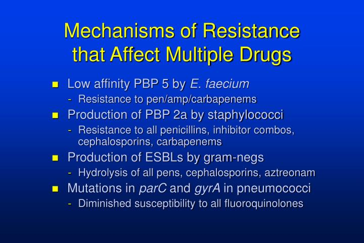 Mechanisms of Resistance that Affect Multiple Drugs