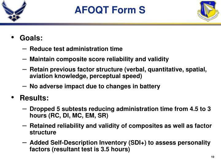 AFOQT Form S