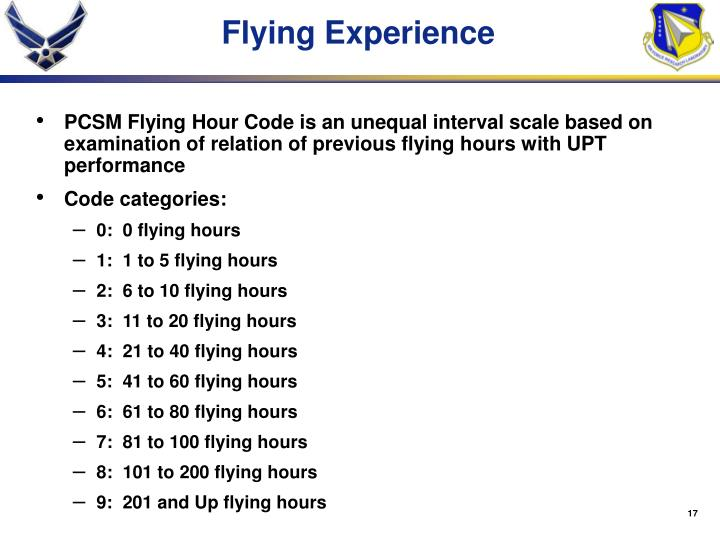 Flying Experience