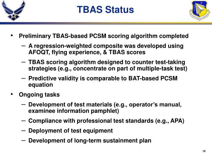 TBAS Status
