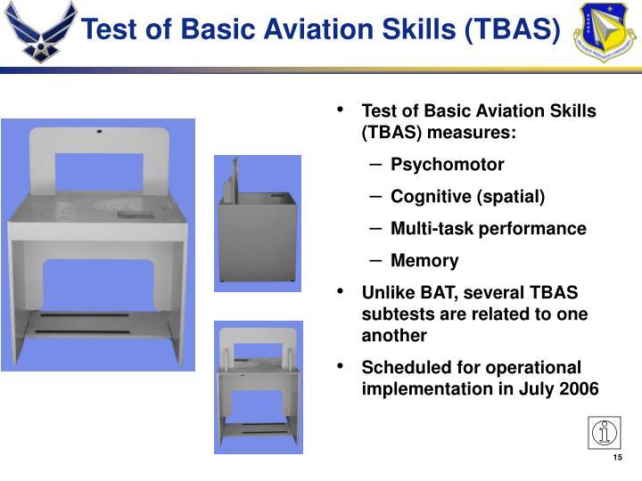 Test of Basic Aviation Skills (TBAS)