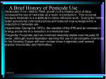 a brief history of pesticide use