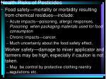 health risks of pesticides