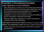 pesticides in developing countries