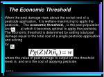 the economic threshold