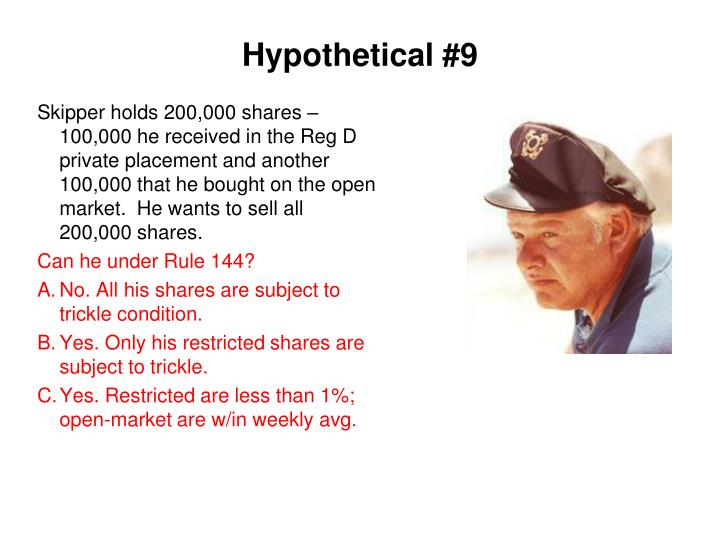 Hypothetical #9