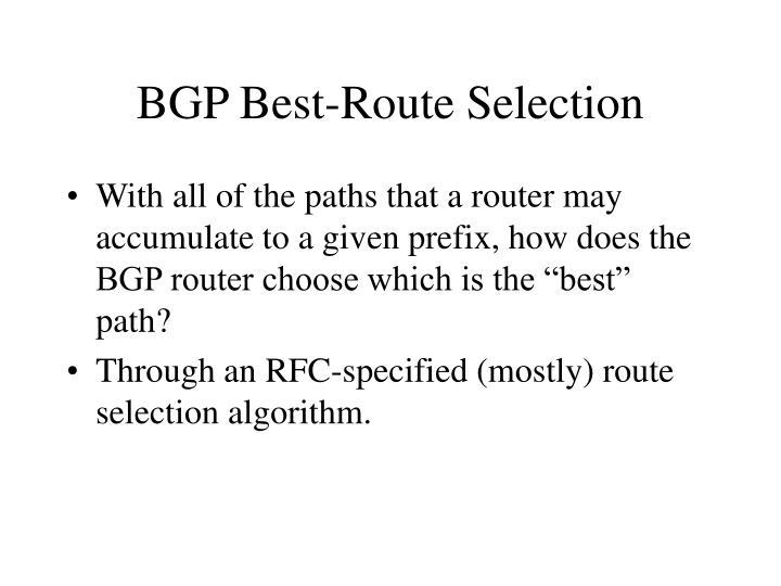BGP Best-Route Selection