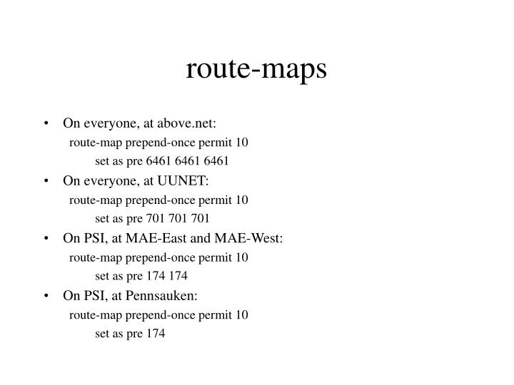 route-maps
