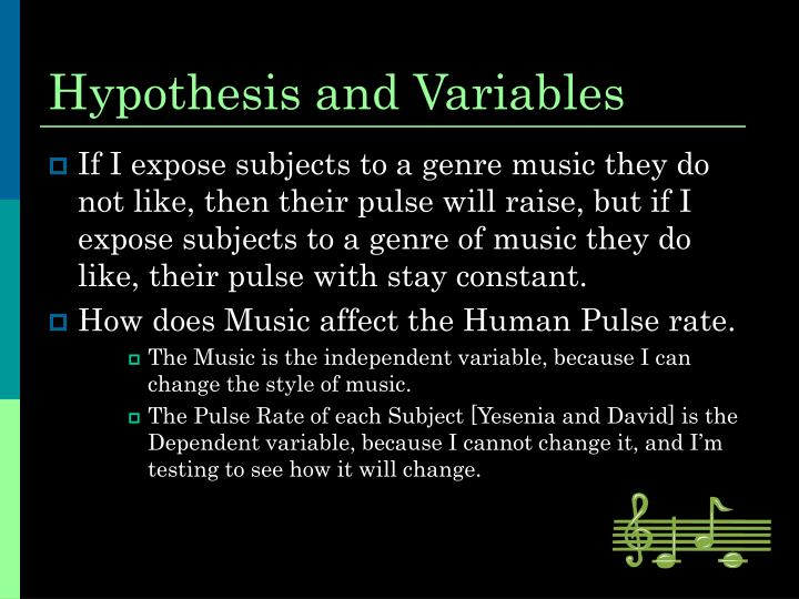 marigold hypothesis and variables