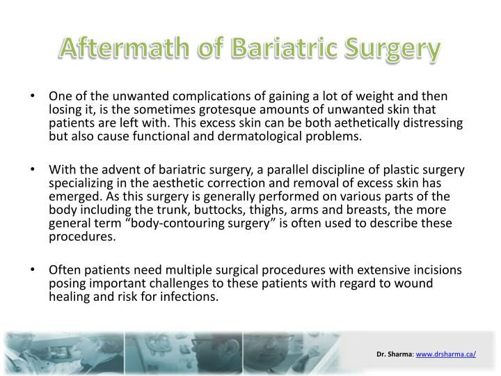 Aftermath of bariatric surgery