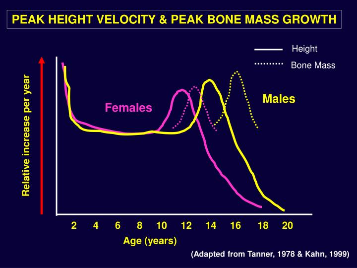 PEAK HEIGHT VELOCITY & PEAK BONE MASS GROWTH
