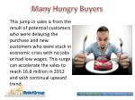 many hungry buyers