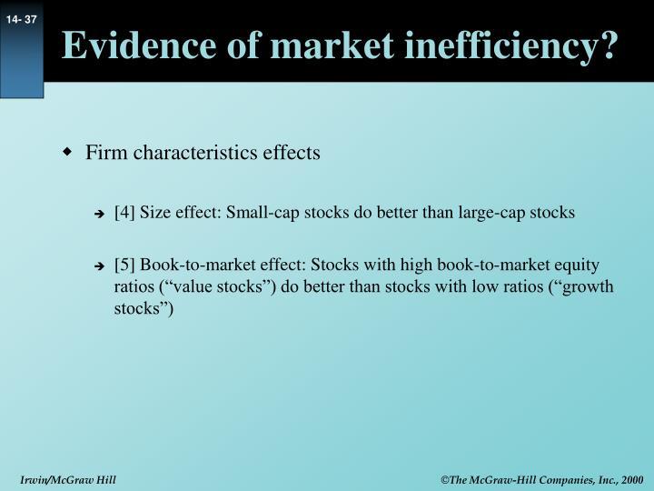 Evidence of market inefficiency?