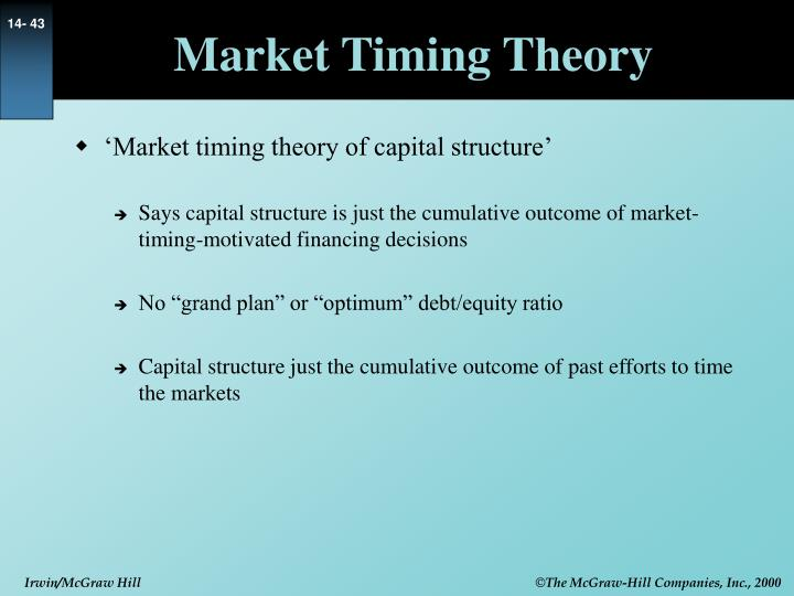 Market Timing Theory