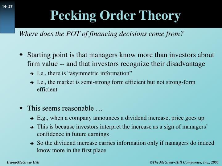 Pecking Order Theory