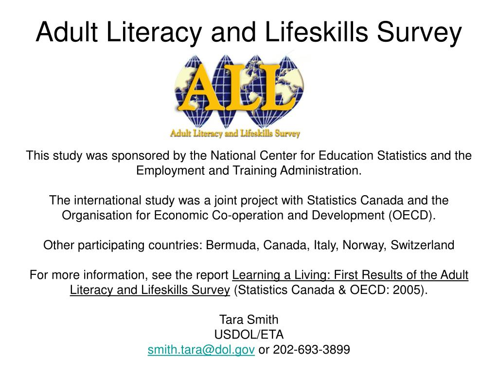 Survey on adult literacy
