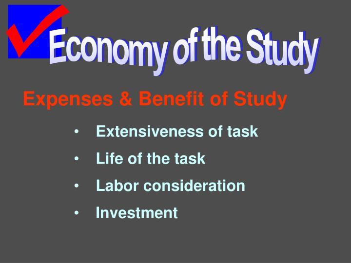 Economy of the Study