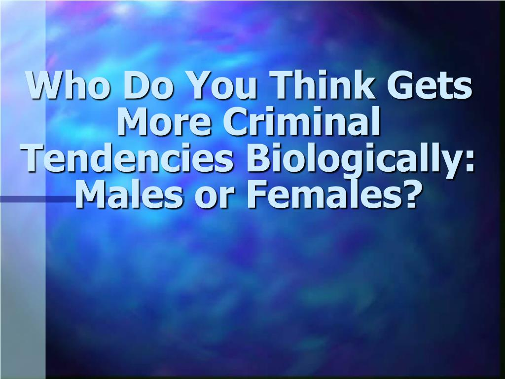 Ppt - Born Criminal Or Equipotentiality Powerpoint -6632