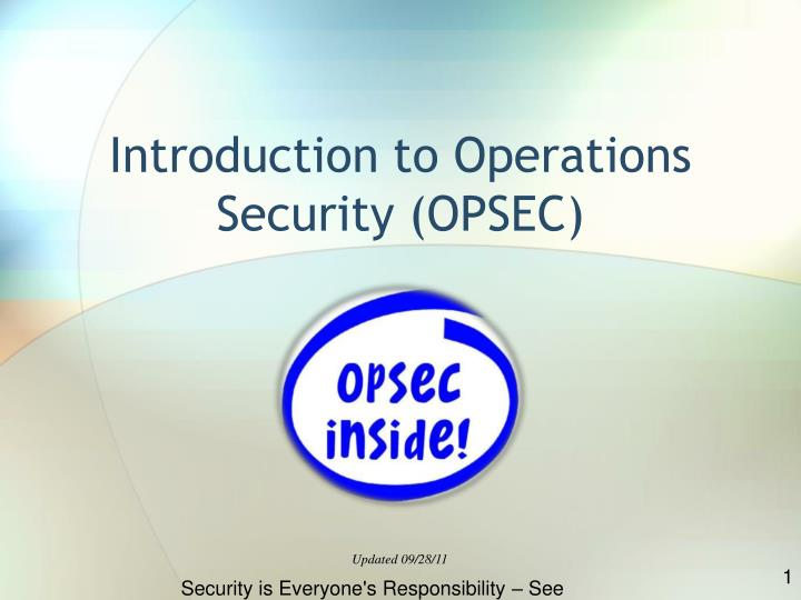 opsec challenges to it