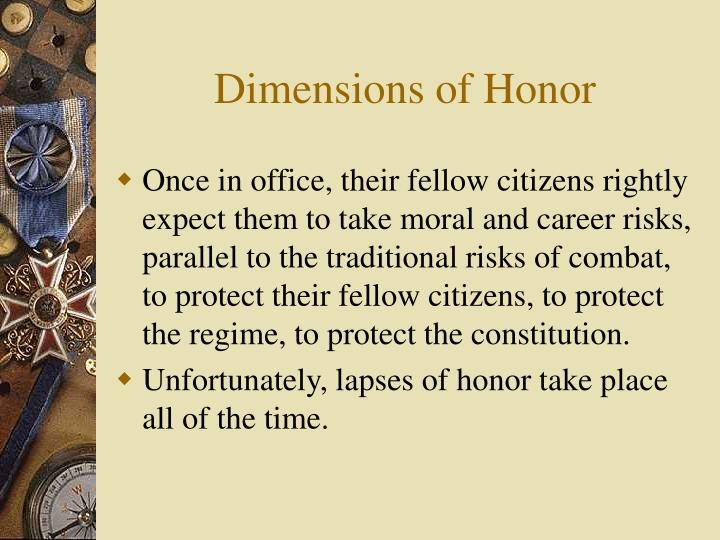 Dimensions of Honor