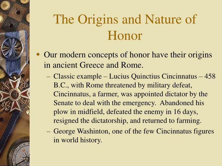 The origins and nature of honor