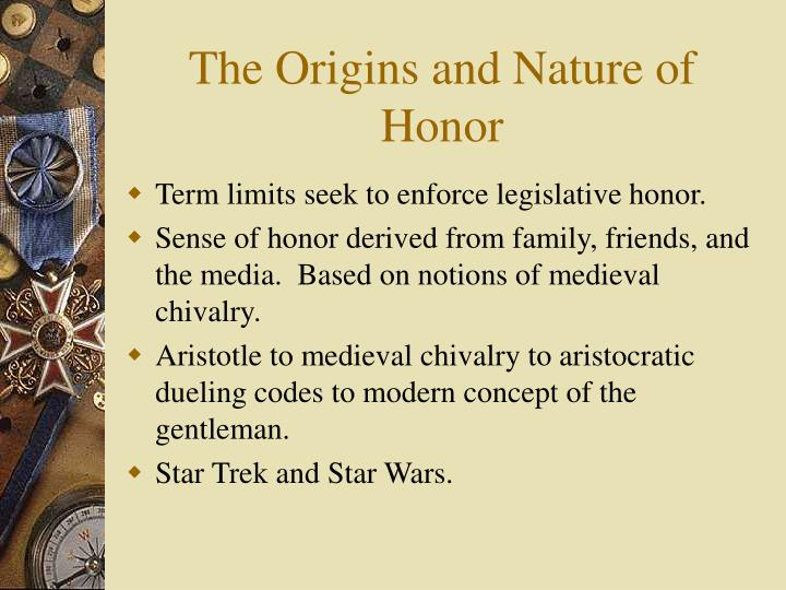 The origins and nature of honor1