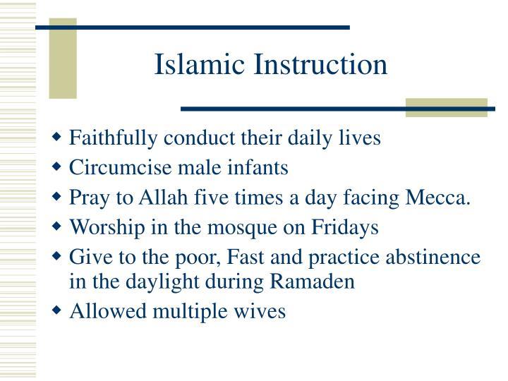 Islamic Instruction