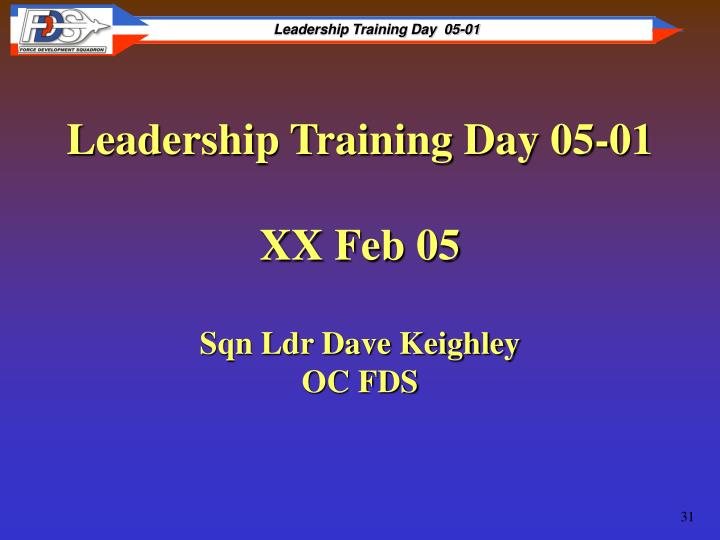 Leadership Training Day 05-01