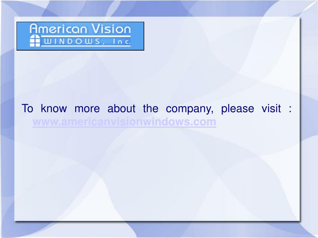 To know more about the company, please visit :
