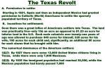 the texas revolt