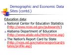 demographic and economic data sites contd2