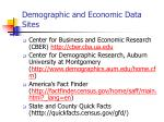 demographic and economic data sites