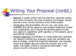 writing your proposal contd1