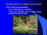 introduction to object and class