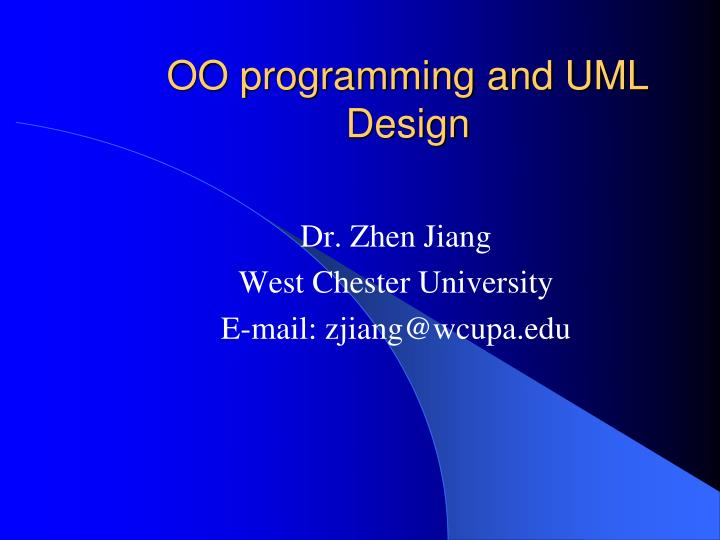 oo programming and uml design n.