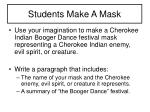 students make a mask