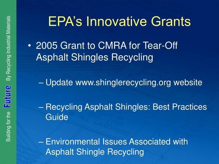 EPA's Innovative Grants