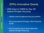 epa s innovative grants