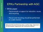 epa s partnership with agc