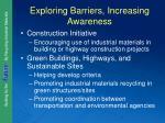 exploring barriers increasing awareness